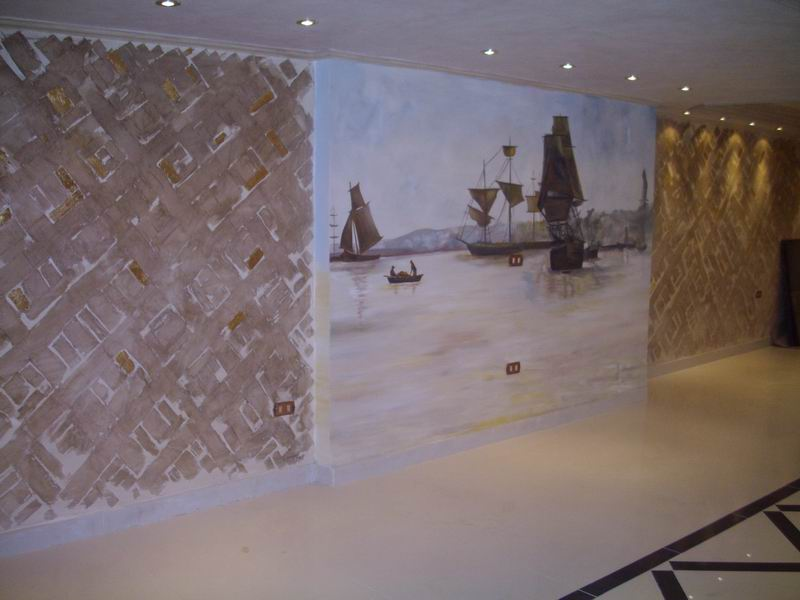Creating a stone wall with paints