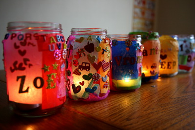 DIY Jar decoration With Beads