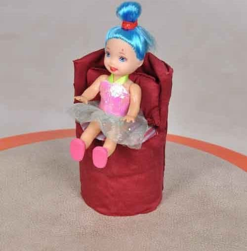 Doll Chair from Toilet Paper Tube