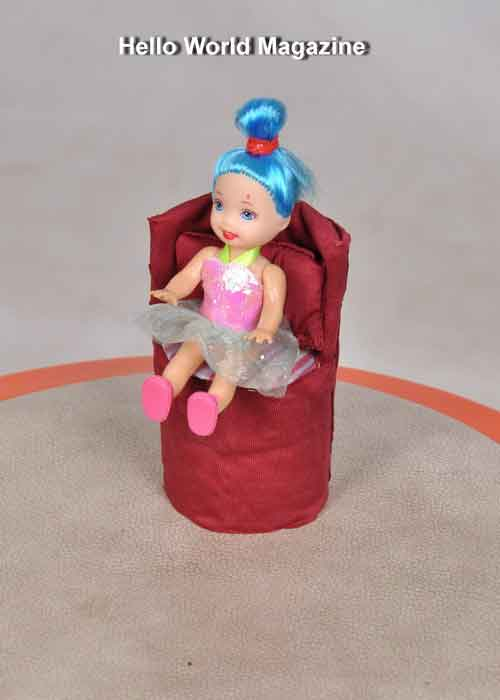 DIY Doll Chair from Toilet Paper Tube