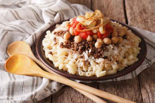 2 Recipes for Egyptian Koshari (Kushari)