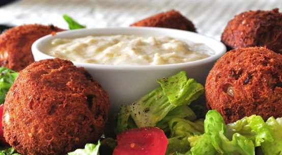 Lebanese Fried Falafel Burgers of Hummus Recipe