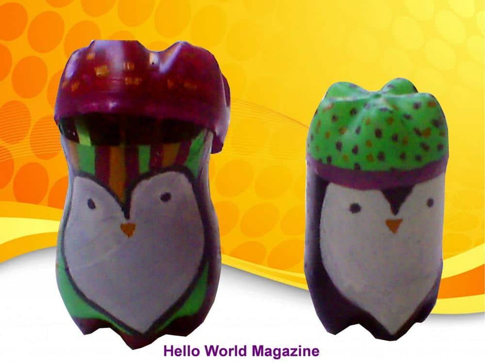 Home-made plastic bottle toys