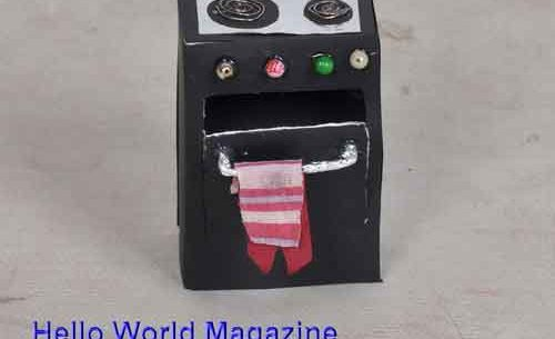 How to Make a Stove for your Doll