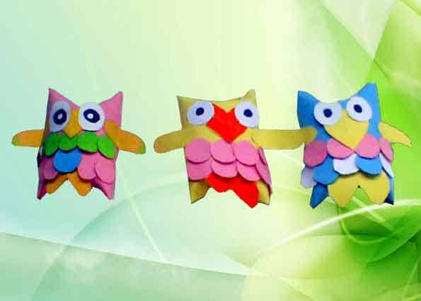 How to Make an Owl of Toilet Paper Roll