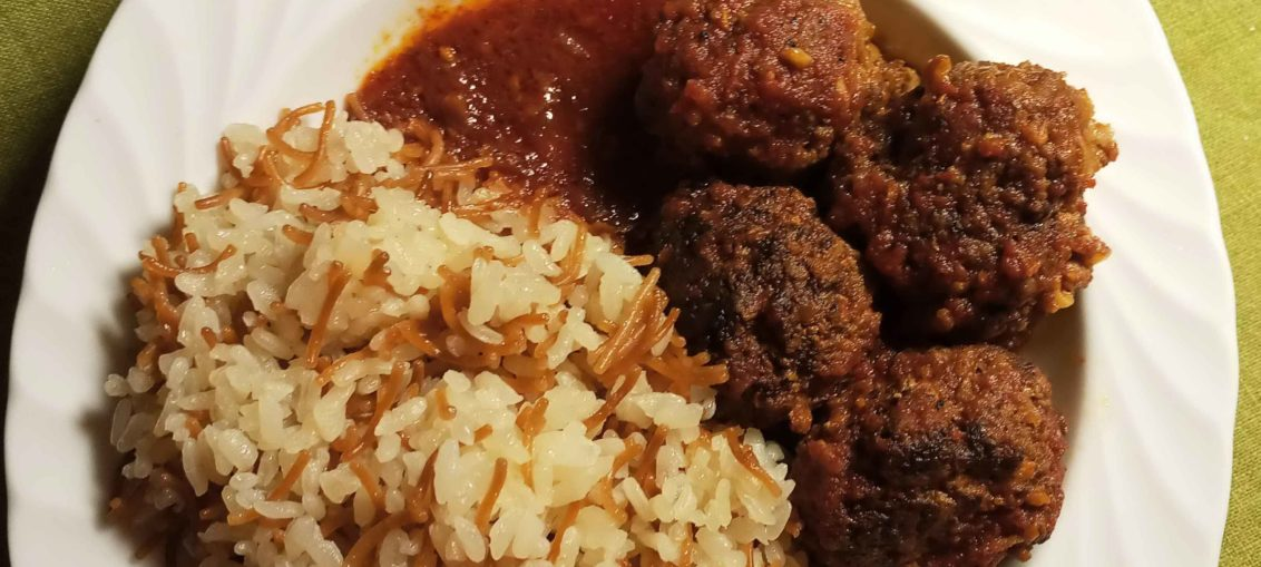 Homemade Kofta Daood Basha Recipe (Meatballs With Tomato Sauce Recipe)