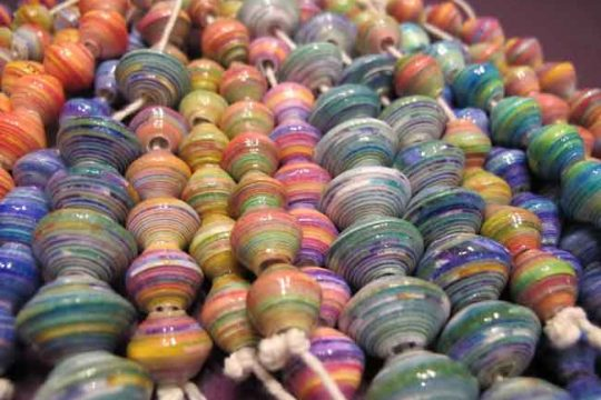 Recycled Beads for Colorful Bracelets