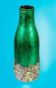 Vase with glitter