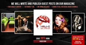 We Will Write and Publish Guest Posts on Our Magazine