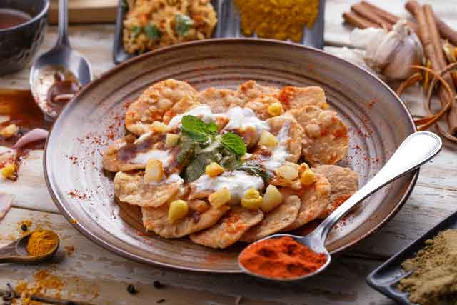 Indian Papdi Chaat Recipe - Indian Cuisine