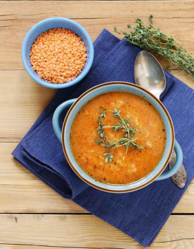 Homemade Vegan Egyptian Lentil Soup Recipe