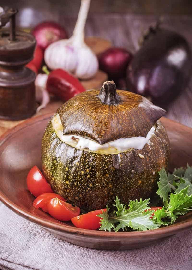 Indian Bharwa Baingan Dish