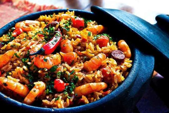 Shrimp and Calamari with Rice Recipe