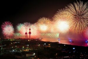 Three slender towers (Kuwait Towers)